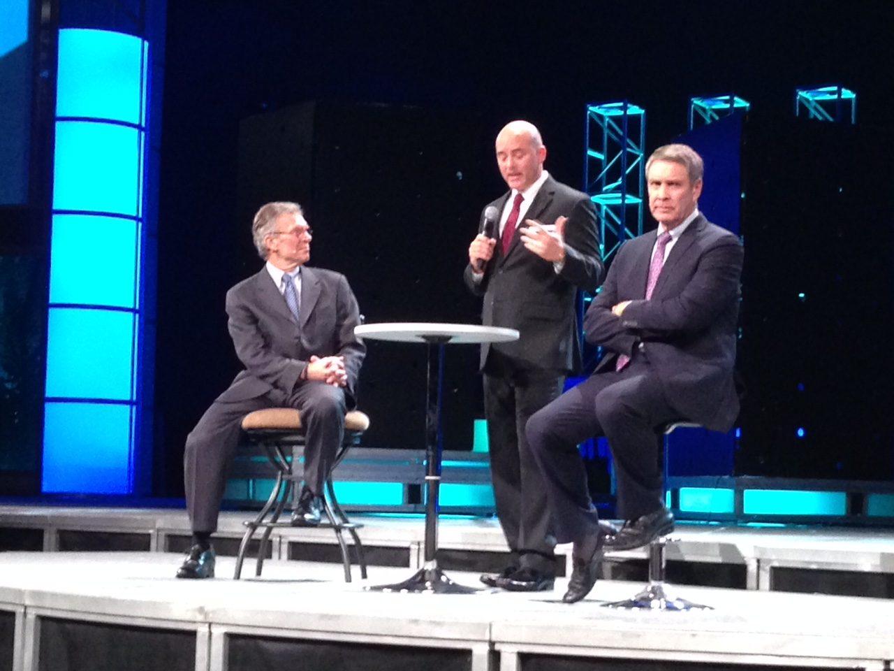 Former Senators Tom Daschle and Bill Frist debate health care leadership issues